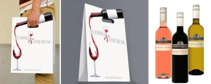 Bolsa de los vinos Astrid y There