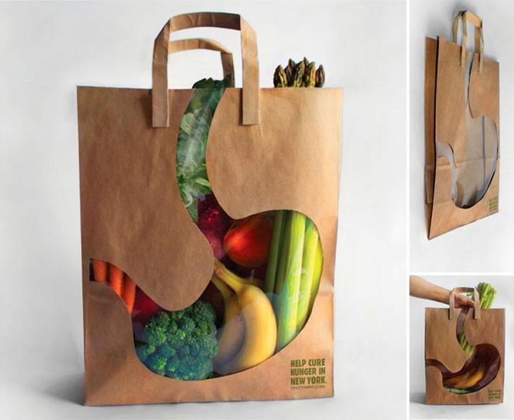 City Harvest bolsa transparente forma de estomago