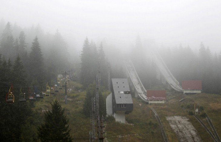 Imagen de las instalaciones abandonadas de las olimpiadas de 1984