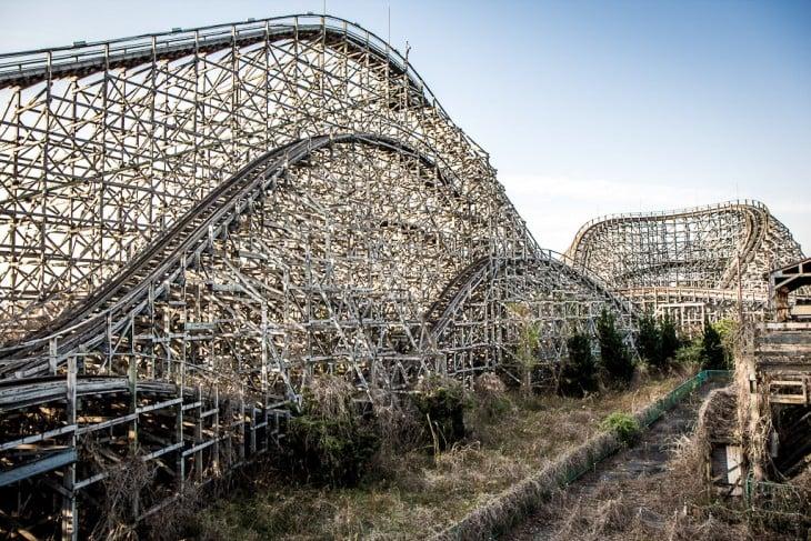 área de juegos del parque temático en Japón