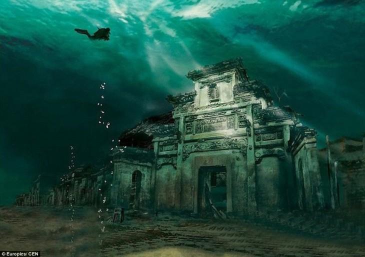 ciudad en el fondo del mar en Shicheng, China