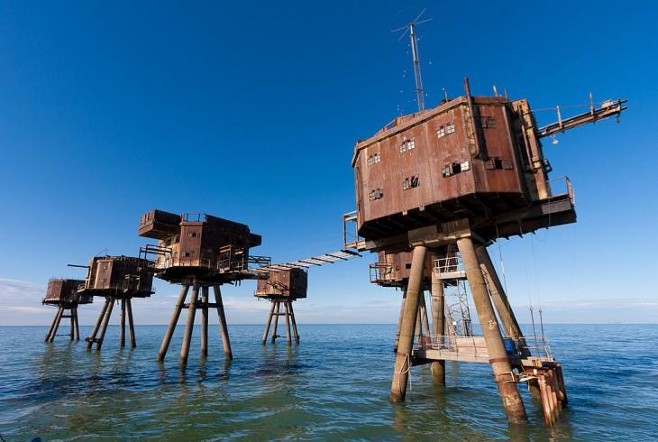 Fortalezas marinas en Maunsell, Inglaterra