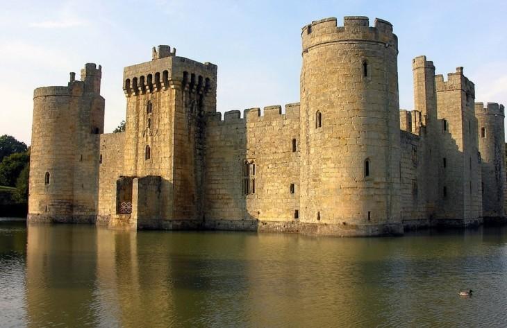 Castillo de Bodiam en Inglaterra