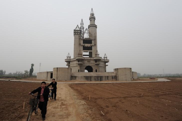 Un parque de diversiones abandonado en Pekin, China
