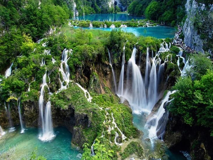 Fotografía del parque nacional Plitvice en Croacia