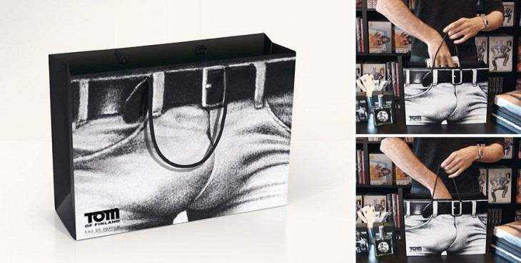 Tom Finland bolsas creativas con imagen de trsero
