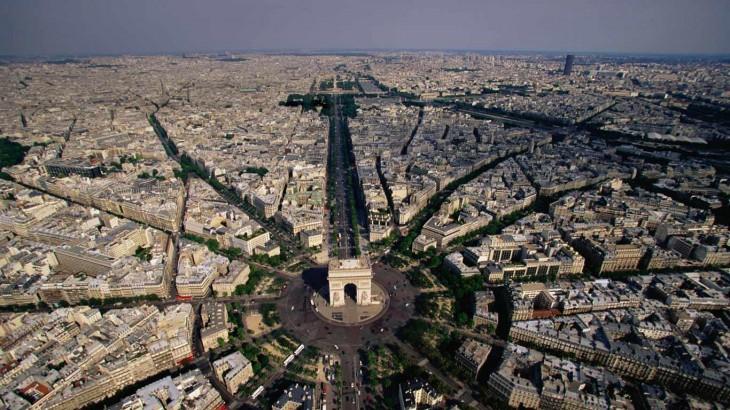 arco del triunfo paris francia foto aerea