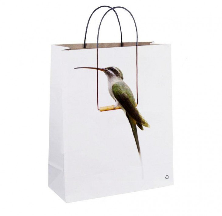 bolsa con foto de pajarito