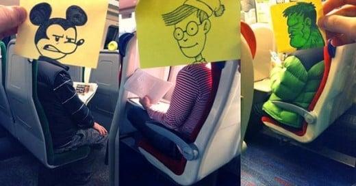 creatividad en el metro