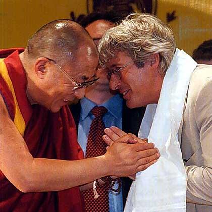 El Dalai Lama con Richard Gere