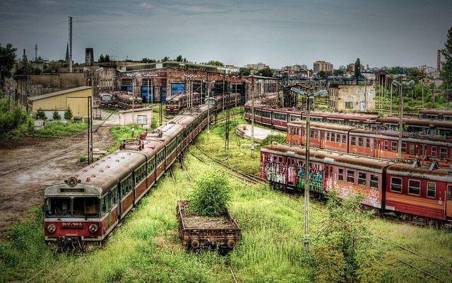 estacion de trenes abandonados en Częstochowa polonia