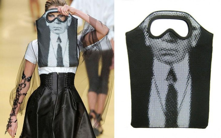 arl Lagerfeld bolsa de binoculares