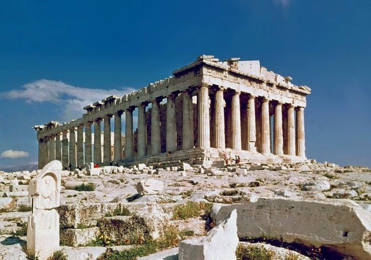 la acropolis en atenas grecia