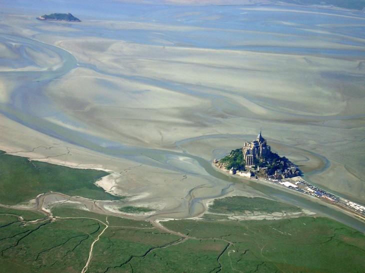 vista aerea del monte de saint michel en francia