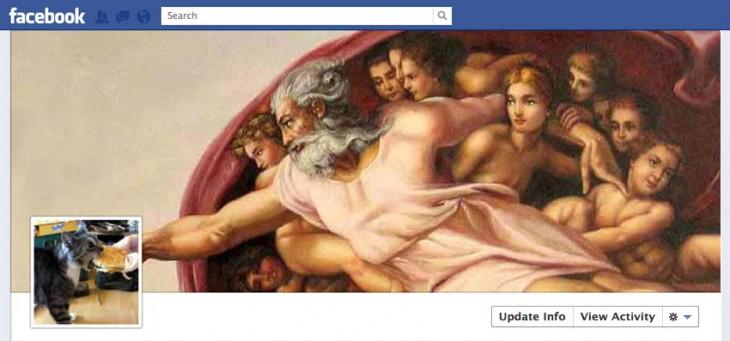 portada de facebook creacion con gato