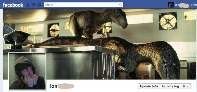 portada de facebook de parque jurasico