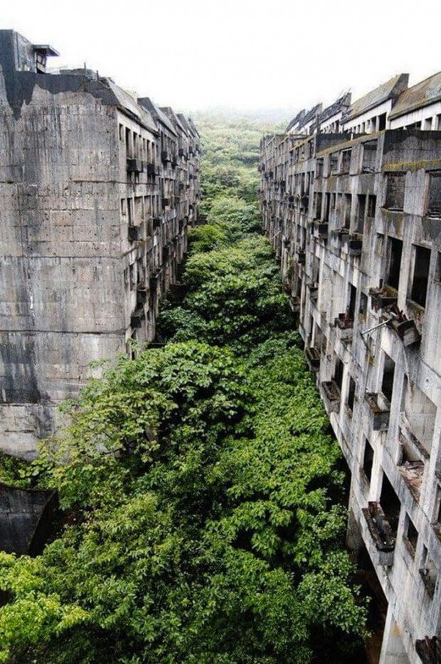 pueblo deshabitado keelung en taiwan