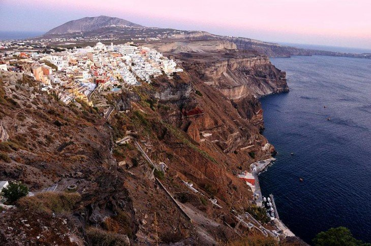 santorigina islas griegas vista aerea