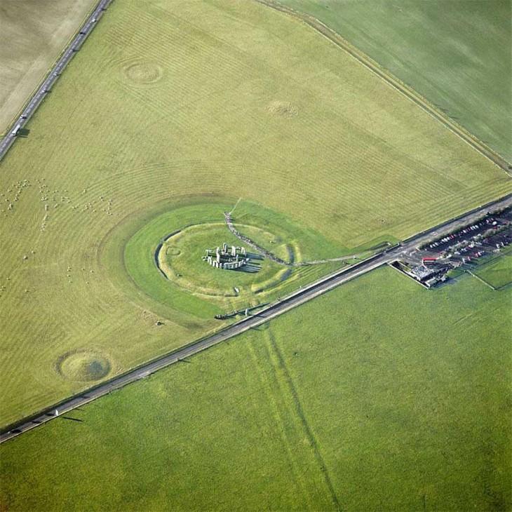 stonehenge reino unido vista aerea