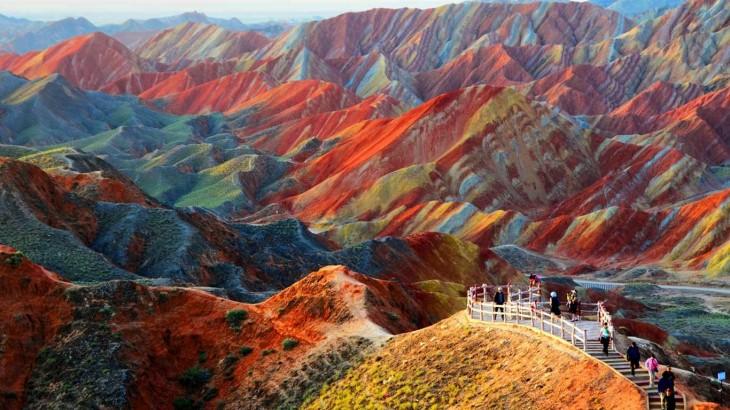 parque geologico de zhangye Danxia en china