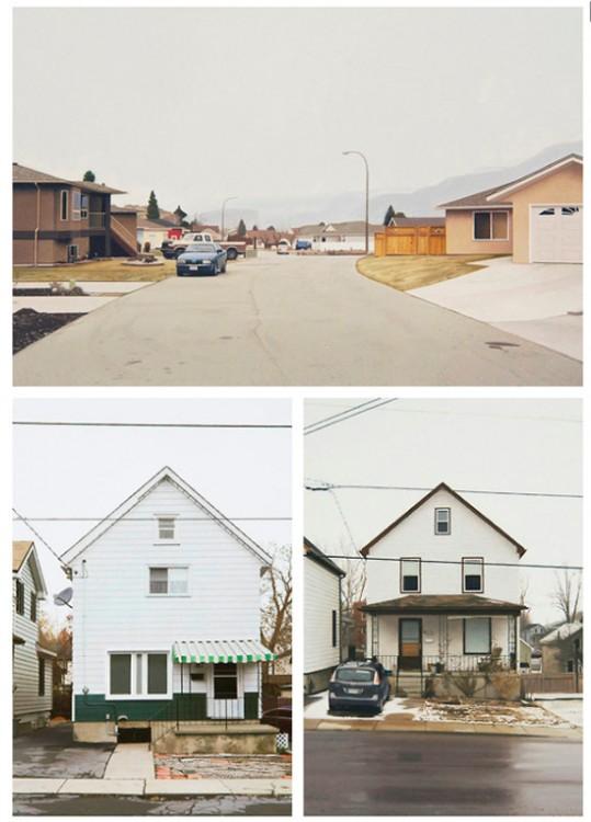 Imágenes que muestran los dibujos de una casa y una calle