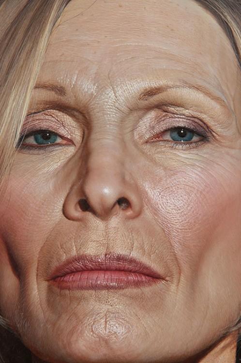 fotografía del rostro de una mujer