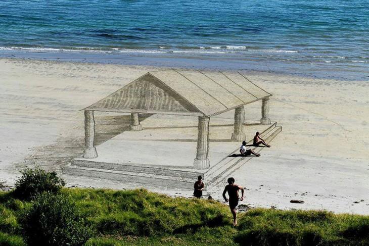 ilusion optica en arena jamie harkings casa de verano