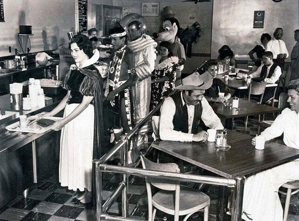 Disneylandia, cafetería de los empleados, 1961