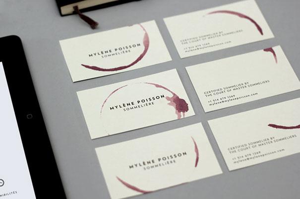 creativa Tarjeta de un Sommelière (catador de vinos)