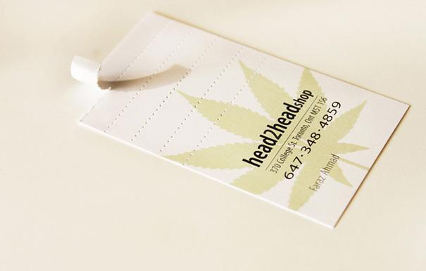 Tarjeta de presentación de hecha Filtro de Cigarrillos