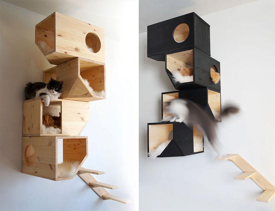 Casas y muebles dise ados para los amantes de los gatos - Estanterias para gatos ...