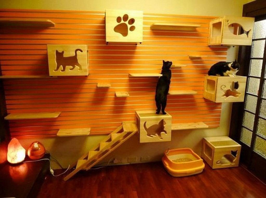 Casas y muebles dise ados para los amantes de los gatos - Casas para gatos de madera ...