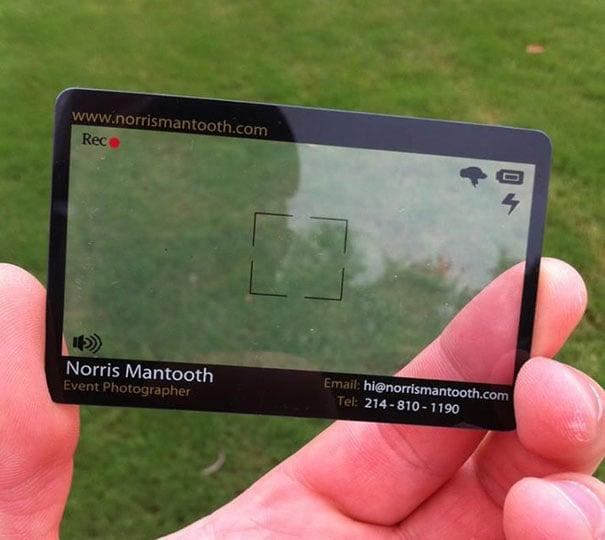 Camara digital, tarjeta de un Fotógrafo de eventos