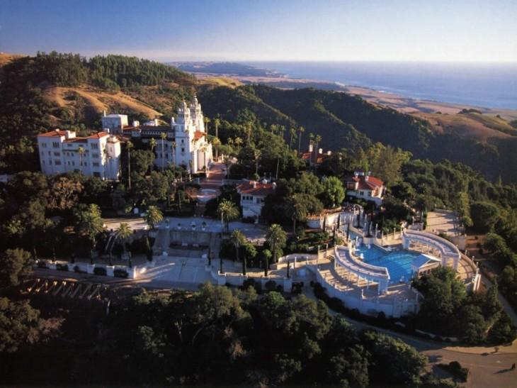 panorama Castillo hearst, California