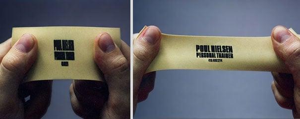 Elástica tarjeta de presentación de un personal trainer