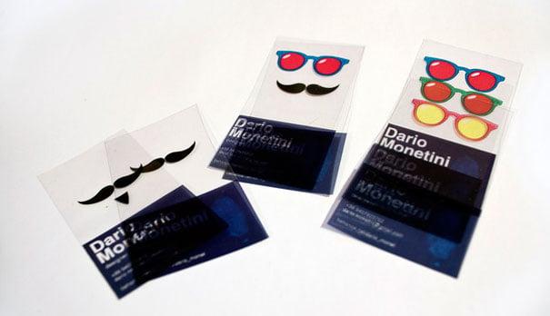 Elegante tarjeta transparente de negocios