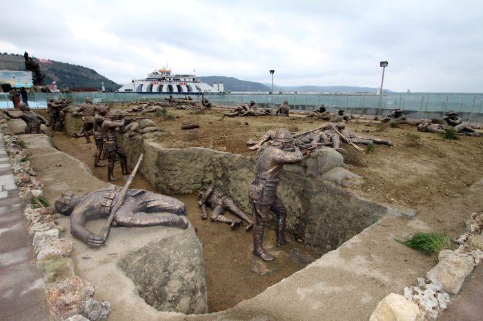 estatuas de la guerra mundiál Turquía