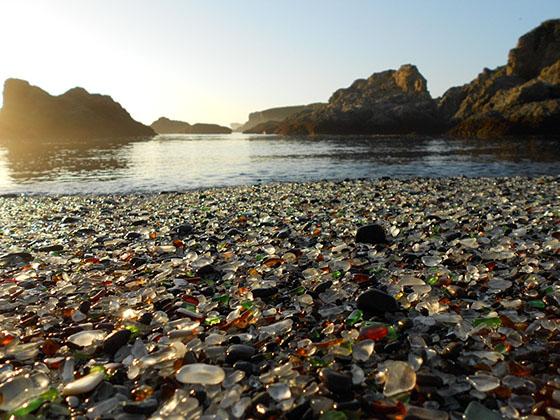 playa de vidrio,