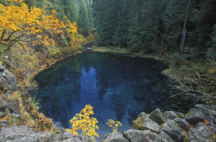 Lago blue, rio Mckenzie, Oregon