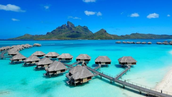 Imagen que muestra Bora Bora en Polinesia Francesa