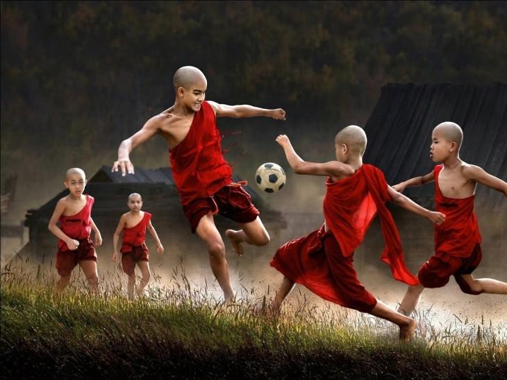 Niños monjes, Myanmar