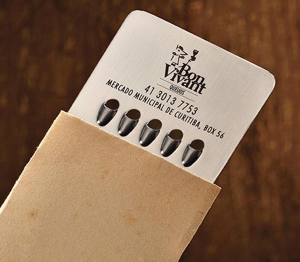 Rayador de quesos tarjeta de presentacion
