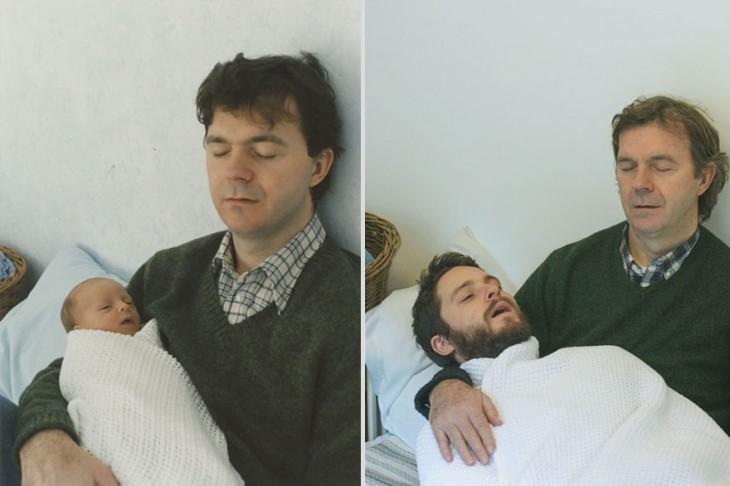 Recreación de fotos padre e hijo
