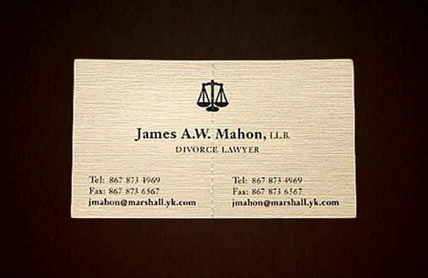 Tarjeta de abogadó de divorsios desgarrable en 2