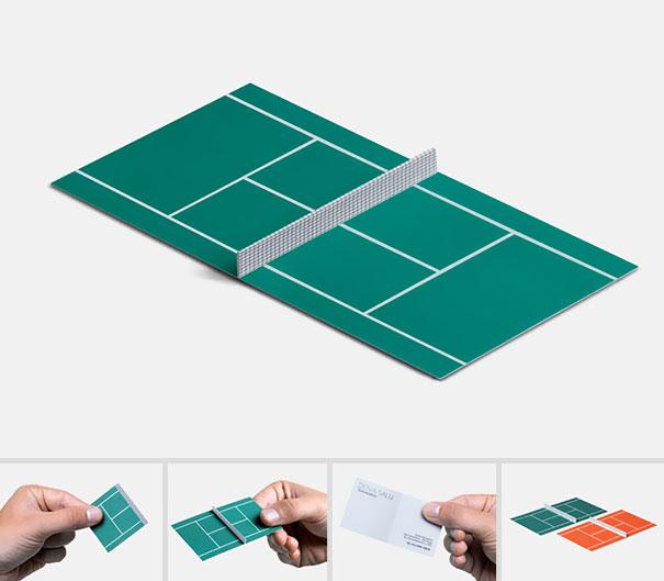 Tarjeta de presentación para tenis