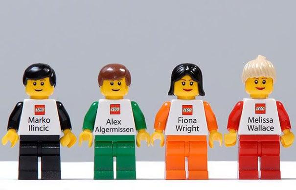 tarjetas creativas de Lego