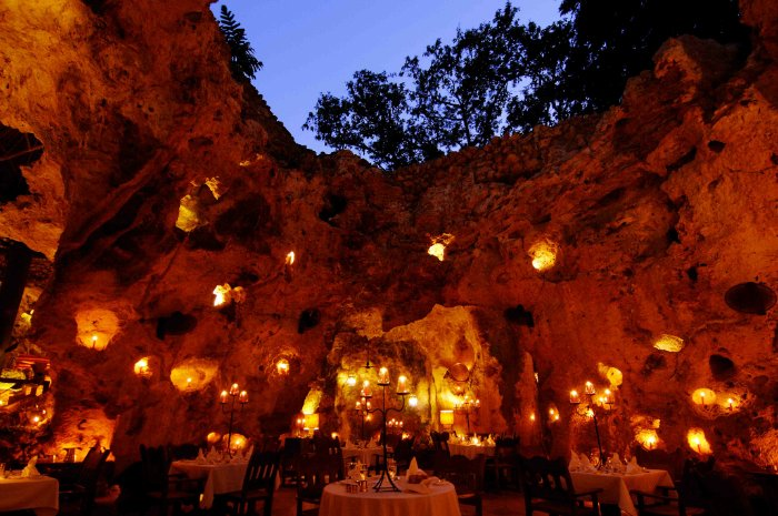 Ali Barbour's Cave Restaurant in Diani Beach, Kenya