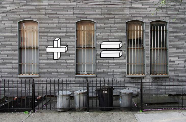 arte urbano interactuando paredes puertas y ventanas