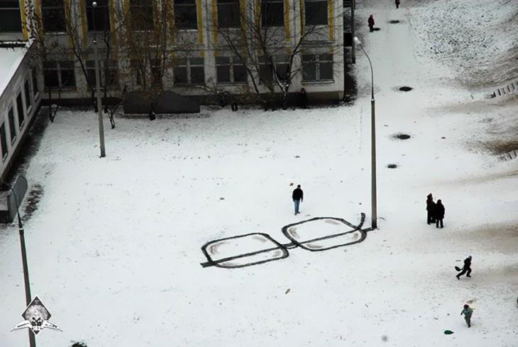 arte urbano rusia anteojos