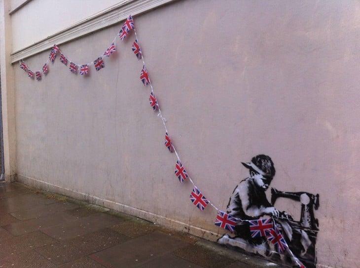 arte callejero, interactuando, Banksy